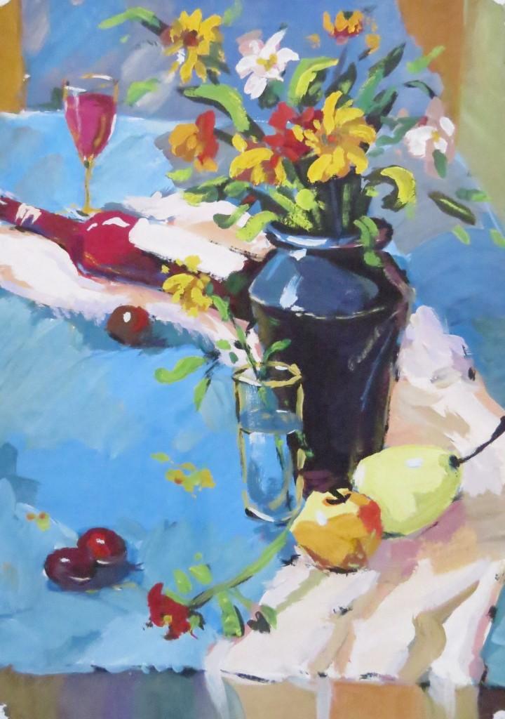 Zhang Xu Fei - acrylic still life #4